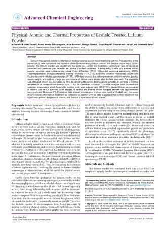 Mahendra Trivedi   Journal of Advanced Chemical Engineering