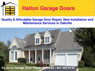 Garage Door Repair, New Installation and Maintenance Services | Halton Garage Doors