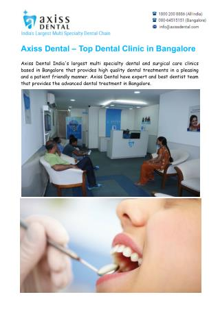 Top & Best Dental Clinic in Bangalore