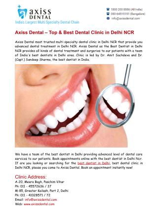 Top & Best Dental Clinic in Delhi NCR