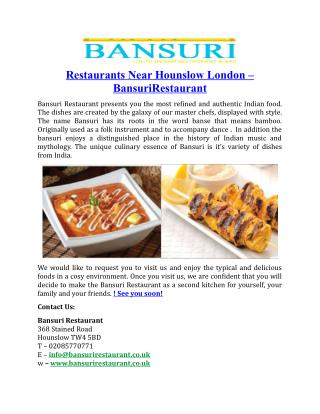 Restaurants Near Hounslow London