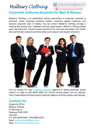 Corporate Uniforms Sydney � Corporate Uniforms Australia