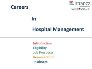 Careers In Hospital Management