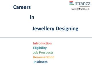 Careers In Jewellery Designing
