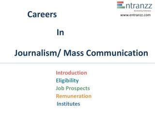 Careers In Journalism Mass Communication