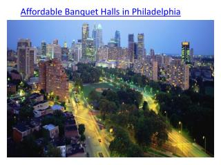 affordable banquet halls in Philadelphia