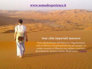 tour citta imperiali marocco