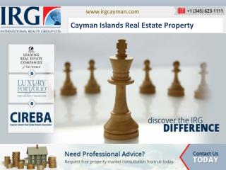 IRG is the Cayman Island's leading real estate service provider