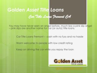 Golden Asset Car Title Loans