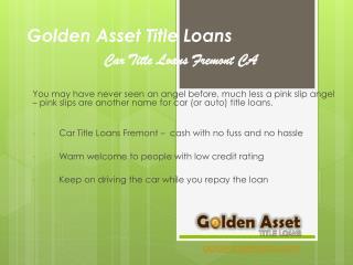Golden Asset Car Title Loans