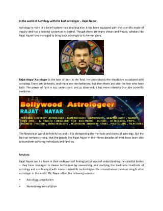 In the world of Astrology With The Best Astrologer – Rajat Nayar