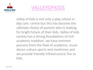 valleyofkids a daycare center