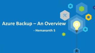 Microsoft Azure Backup - An Overview