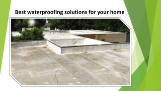 Best waterproofing solutions for your home