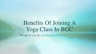 Benefits Of Joining A Yoga Class In BGC
