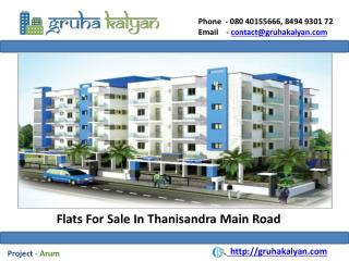 Flats For Sale in Thanisandra Main Road