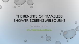 The Benefits Of Frameless Shower Screens Melbourne
