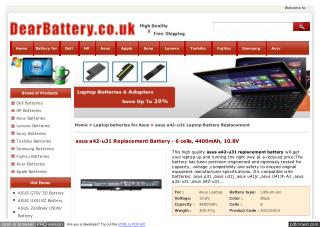 asus a42-u31 Replacement Battery