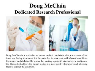Doug McClain Dedicated Research Professional