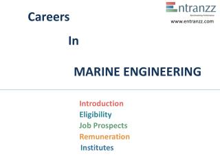 Careers In MARINE ENGINEERING