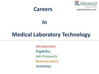 Careers In Medical Laboratory Technology
