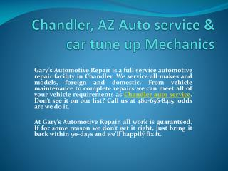 Chandler auto ac repair