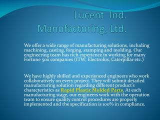 Plastic Tooling and Molding