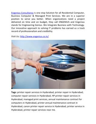 Managed print services - Printer service in Hyderabad.pdf