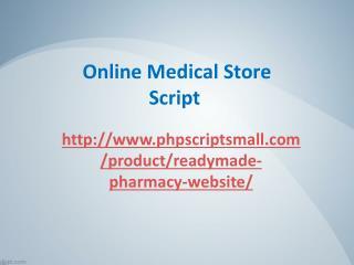 Online Medical Store Script