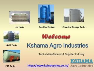 FRP Tanks | HDPE Tanks | PP Tanks | Chemical Storage-KA Industries.