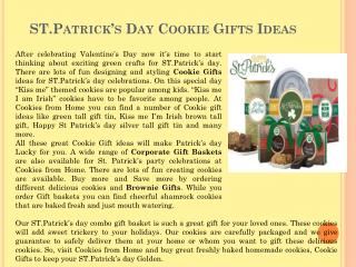 ST.Patrick's Day Cookie Gifts Ideas