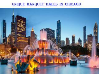 Unique Banquet Halls in Chicago