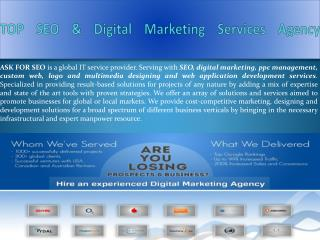 TOP SEO & Digital Marketing Services Agency