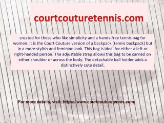Perfect Tennis Bags for Women