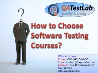 How to Choose Software Testing Courses?