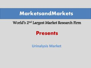 Urinalysis Market worth $1.28 Billion by 2019