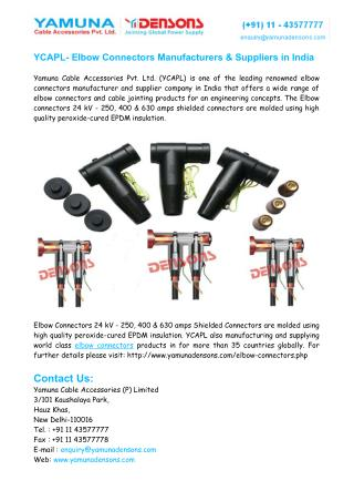 Elbow Connectors Manufacturers India