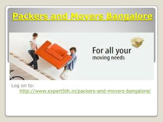 Free Quotes of Expert Movers and Packers Bangalore