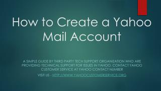 How to Create a Yahoo Mail Account