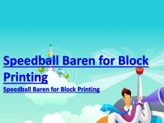 Speedball Baren for Block Printing