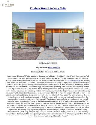Virginia Street - So Very Suite - cityhomeCOLLECTIVE Salt lake City Utah