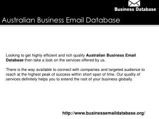 Australian Business Email Database