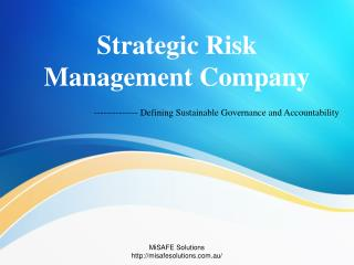Strategic Risk Management Company - MiSAFE Solutions