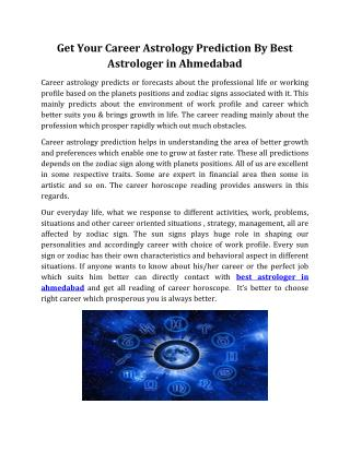 Get Your Career Astrology Prediction By Best Astrologer in Ahmedabad