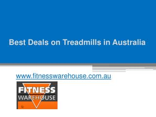 Best Deals on Treadmills in Australia - www.fitnesswarehouse.com.au