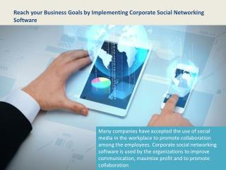 Corporate Social Networking Software, Business Social Network