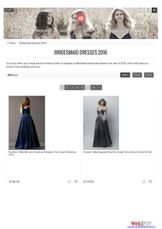 Bridesmaid dresses 2016 - Bridesmaidwire