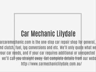 Car Mechanic Lilydale