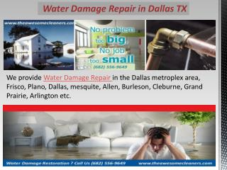 Water Damage Repair in Dallas TX