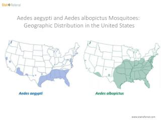 Aedes aegypti and Aedes albopictus Mosquitoes Geographic Distribution in the United States